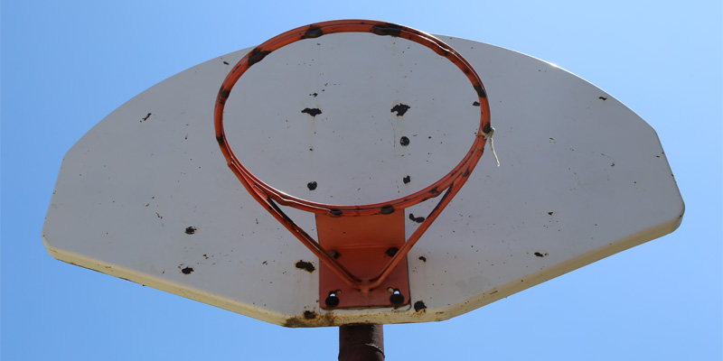Old Basketball Hoop North East PA