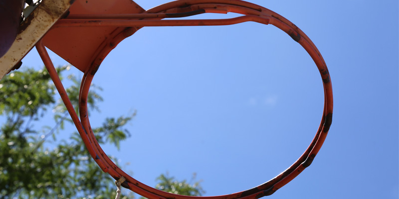 Rusted Rim Basketball Hoop North East